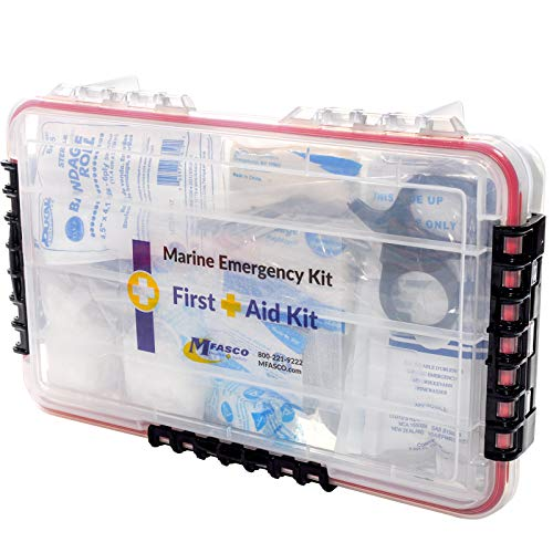 Marine Emergency First Aid Kit In Waterproof Case