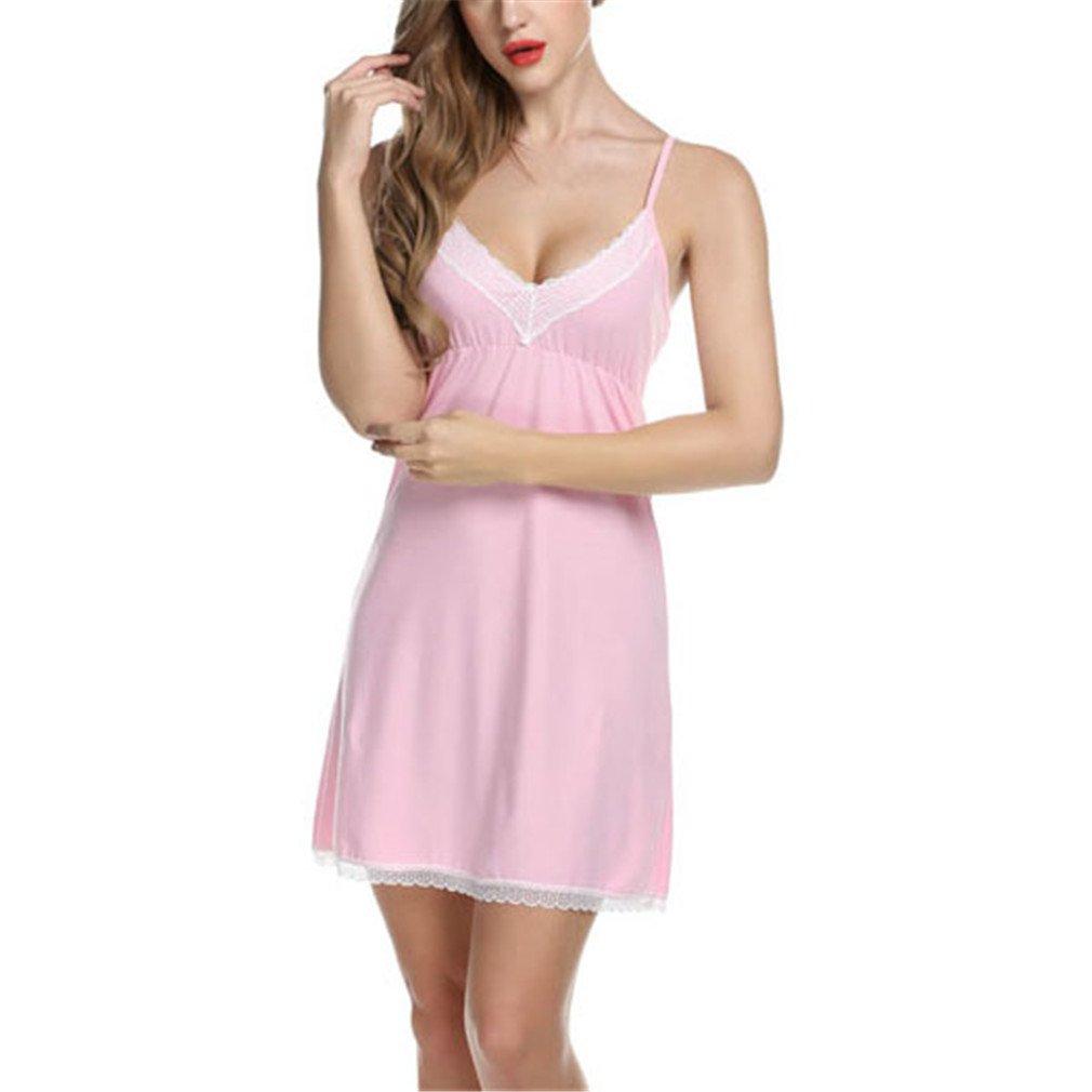 XILALASON Cotton Night Dress Lace Casual Home Dress Night Shirt Sleepwear  at Amazon Women s Clothing store  50ca97519