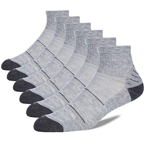 COOVAN Mens 6 Pack Athletic Ankle Socks Men Quarter Performance Running Cushion Work Sock