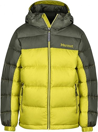 Marmot Kids Boy's Guides Down Hoody (Little Kids/Big Kids) Citronelle/Beetle Green X-Large