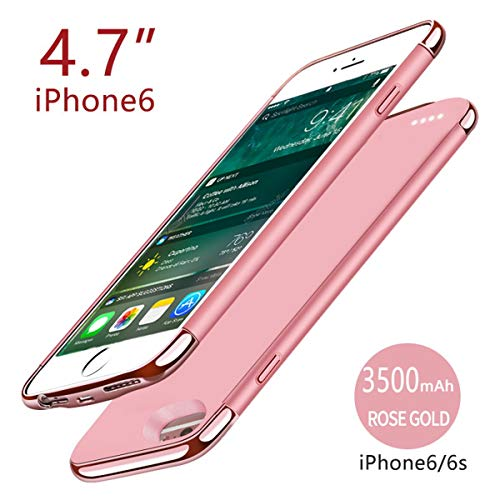 - Happon iPhone 6 iPhone 6s 4.7 inch 3500mAh Battery Case Battery Protective Portable Charging Case Cover Charger Thin and Slim Hard PC + TPU Durable Non Slip ccover Compatible with iPhone 6