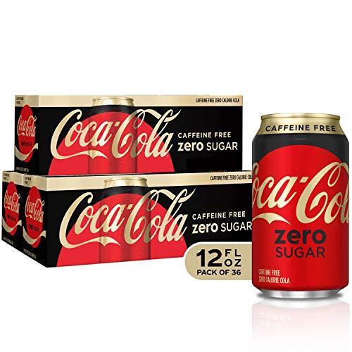 - Caffeine Free Coke Zero Fridge Pack Bundle, 12 fl oz, 36 Pack