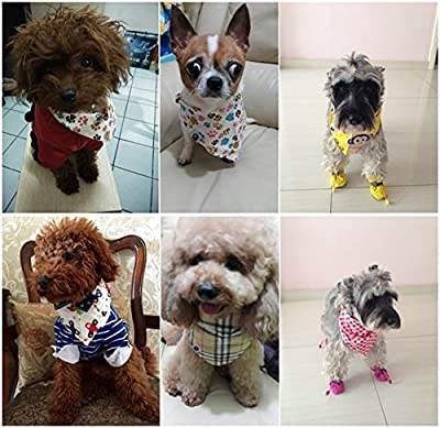 PET SHOW Pet Dog Cat Puppy Bandana Bibs Triangle Head Scarfs Accessories