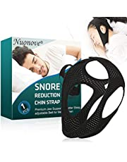 Chin Strap, Snoring Solution, Anti Snoring Chin Strap, Anti Snoring, Adjustable & Breathable Anti Snoring Devices for Men Women, Black