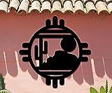 Cactus Desert Scene Southwest Design - Home & Garden - Large (23w x 23h) Metal Art - Indoor - Outdoor Hand Made USA