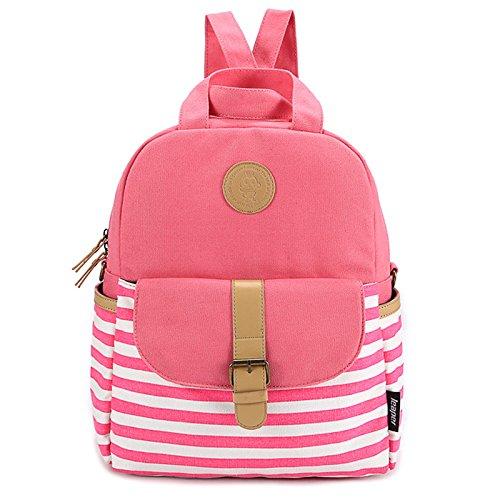 Alger Travel Rucksack Handtasche Umhängetaschen Schultaschen, Rosa Pink