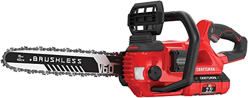 CRAFTSMAN V60 Cordless Chainsaw, 16-Inch CMCCS660E1 ,Red