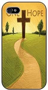 Jesus Christ cross - One hope - Bible verse iPhone 5C black plastic case / Christian verses