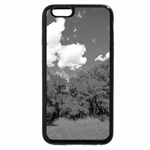 iPhone 6S Case, iPhone 6 Case (Black & White) - Autumn brush