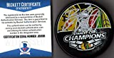 Beckett BAS Bryan Bickell Autographed Signed 2013 Stanley Cup Champions Chicago Blackhawks Official Champs Puck