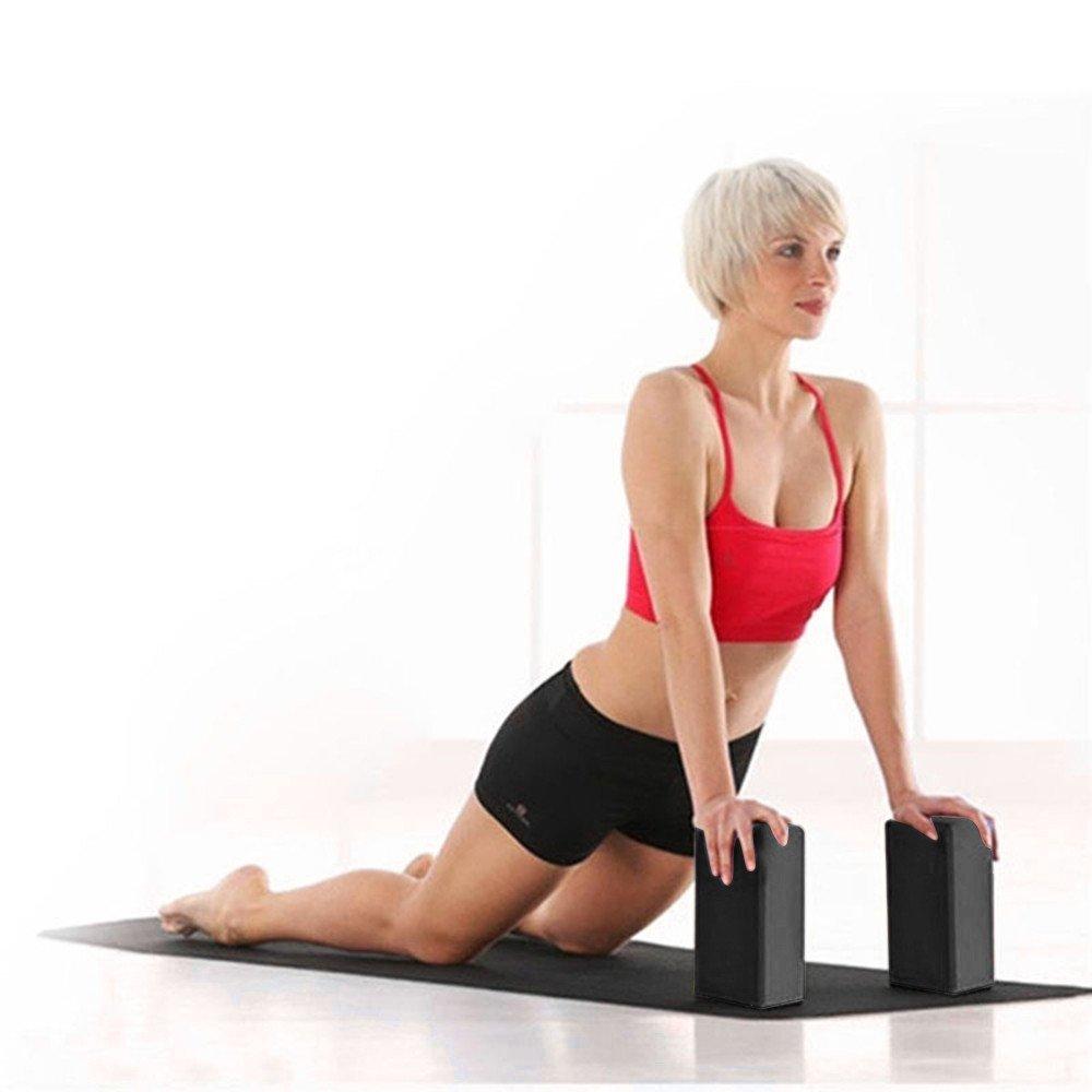 ☪ Amersasa ☪ Exercice Fitness Yoga Blocs Foam Bolster Pillow Cushion EVA Gym Training