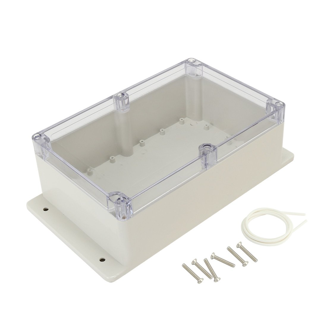 uxcell 9x5.9x3.4(230mmx150mmx87mm) ABS Junction Box Universal Project Enclosure w PC Transparent Cover a17031600ux1146
