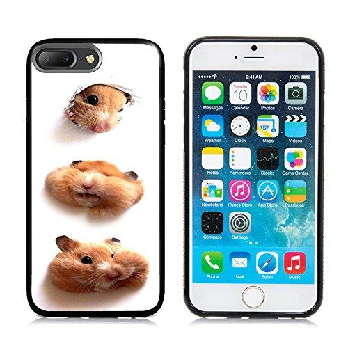 Apple 7 Plus iPhone 7 Plus Case,DOO UC (TM) TPU 3D pattern Case for iPhone 7 Plus Black case Funny little hamster (Plus Hamster)