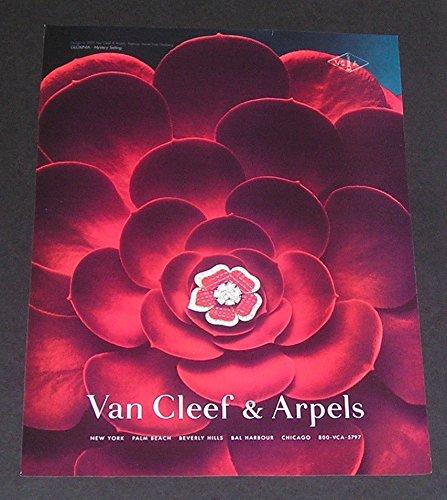 Van Cleef And Arpels Jewellery - 2002 PRINT AD Van Cleef & Arpels Jewelry, Ruby & Diamond Mystery-Set Floral Brooch,