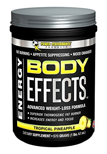 Power Performance Products Body Effects - New Flavor - Body Effects Pre Workout Supplement - the Ultimate Weight Loss, Fat Burning, Energy Boosting, Appetite Suppressing, Mood Enhancing and Muscle-Defining Supplement - Tropical Pineapple, 570 Grams