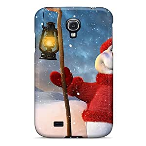 Defender Case For Galaxy S4, Christmas Snowman Holidays Pattern