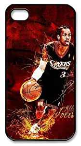 LZHCASE Personalized Protective Case for iPhone 4/4S - Allen Iverson, NBA Philadelphia 76ers