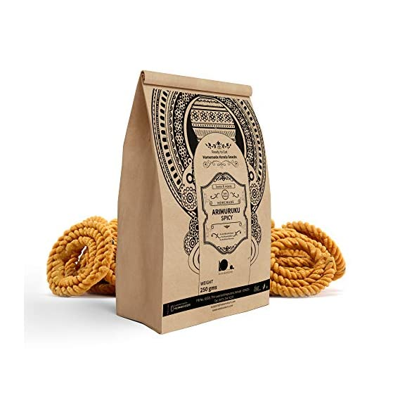 looms & weaves Ready To Eat Ari Murukku/Rice Flour Spirals - 250 Grams