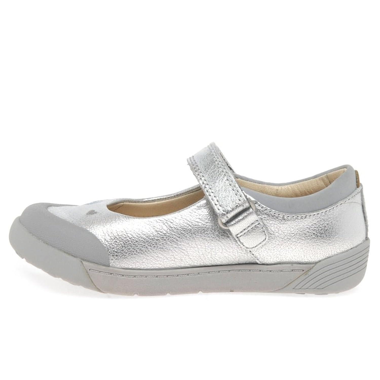 Clarks zapatos de las muchachas de lilfolk popular mini peg pre walker Silver 8 G LAFT24
