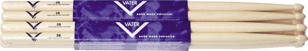 Vater Hickory Drumsticks 4 Pack - Buy 3 Get 1 Free Wood 5B VSP5BW
