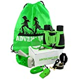 Adventure Kidz - Outdoor Exploration Kit, Children's Toy Binoculars, Flashlight, Compass, Fox Whistle, Magnifying Glass, Backpack. Great Kids Gift Set for Camping, Hiking, Educational, Pretend Play.