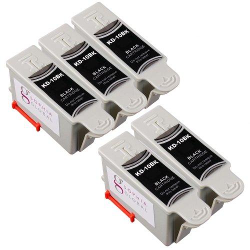 Sophia Global Compatible Ink Cartridge Replacement for Kodak 10 (5 Black)