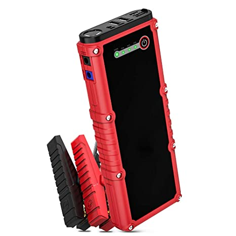 Portable Car Jump Starter >> Car Jump Starter 800a Peak 18000mah 12v Auto Battery Booster Up To 7 0l Gas Or 4 5l Diesel Engine Portable Power Pack Built In Led Flashlight With