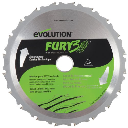 Evolution Power Tools FURY3BLADE 8-1/4-Inch Multipurpose Cutting Replacement Blade