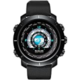 SKMEI Men's Digital Sports Watch Colorful Screen Fashion Military Waterproof Smart Watches with Heart Rate Call SMS Notification Stopwatch Pedometer