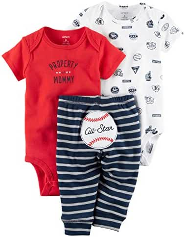 Carter's Baby Boys' 3 Piece Take Me Away Set (9 months, baseball)