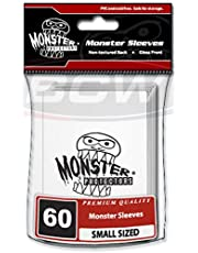 MONSTER BINDERS BCW Monster Deck Protectors Small Glossy White Logo (60 Sleeves Per Pack) Card Sleeves