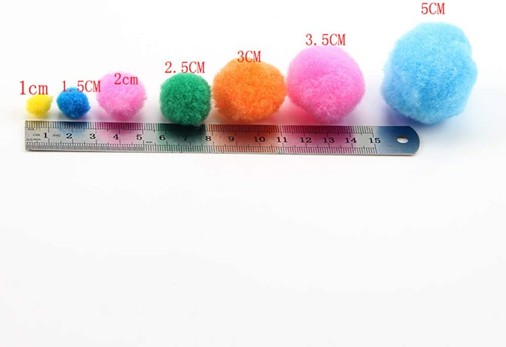 250pcs Pom Poms for DIY Art Craft Decorations 150Pcs Wiggle Eyes 500Pcs Pipe Cleaners Craft Pipe Cleaners Pipe Cleaners Craft Supplies Including 100Pcs Pipe Cleaners