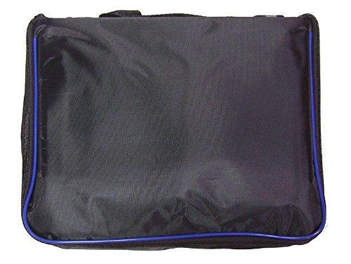 l Pin Bag - 3 Page Black w/Blue Piping ()