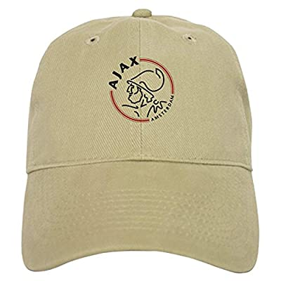 Ajax Amsterdam - Baseball Cap with Adjustable Closure, Unique Printed Baseball Hat White/Khaki