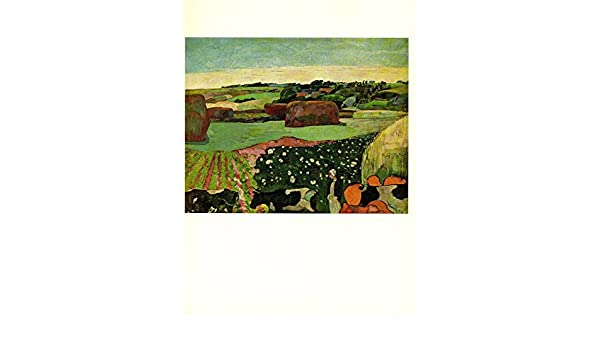 "1972 Vintage GAUGUIN /""THE HAYRICKS/"" GORGEOUS COLOR offset Lithograph"