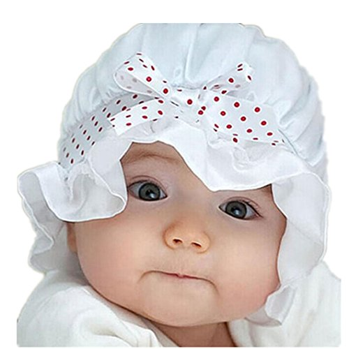 dzt1968r-newborn-baby-girl-summer-winter-round-dots-beanie-sun-hat-cap-with-string-white
