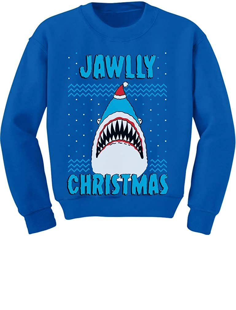 Tstars Jawlly Christmas Shark Ugly Christmas Toddler//Kids Sweatshirt