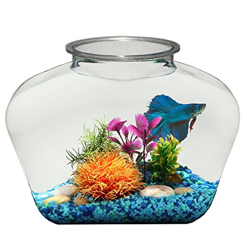 Marbles Marina Decorative (Koller Products BettaTank 2-Gallon Fish Bowl)