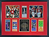"""49ers super bowl tickets - SF 49ers """"Team of the Decade' Super Bowl Ticket Display Framed (Featuring Joe Montana, Jerry Rice & Steve Young) - DELUXE"""