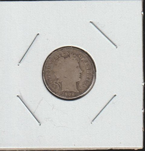 1902 Barber or Liberty Head (1892-1916) Dime Very Good