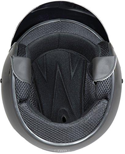 Fuel Helmets SH-OF0016 O5 Series Open Face Helmet, Gloss Black, Large by Fuel Helmets (Image #4)