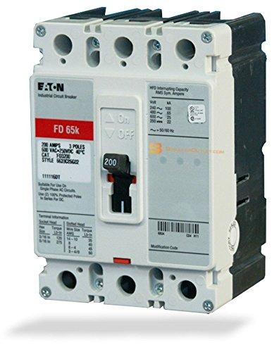 Cutler Hammer Fd - New Cutler-Hammer Eaton FD3100 Circuit Breaker 3 Pole 100A 600V FD Frame 35kA