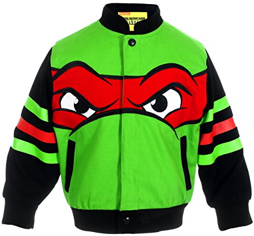 J.H. Design Teenage Mutant Ninja Turtles My Ninja Face Boys Character Snap Up Jacket (2T) (Jacket Racing Character Kids)