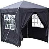 Airwave Pop-Up-Pavillon, 2 x 2 m, schwarz