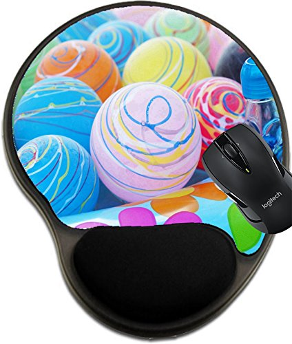 MSD Natural Rubber Mousepad wrist protected Mouse Pads/Mat with wrist support design: 11601791 lovely yoyo at the summer festival