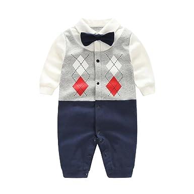 new york da9de 21500 Fairy Baby baby strampler junge body langarm formeller Anzug ...