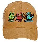tommery unisex peace love massage hip hop baseball caps