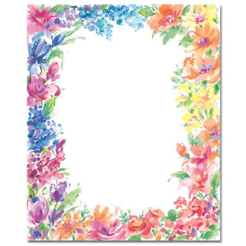 Bright Floral Laser & Inkjet Printer Paper