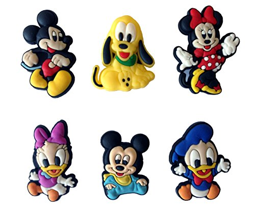 Mickey Mouse and Friends Fridge Magnets 6 Pcs Set #3 (Disney Refrigerator Magnets)