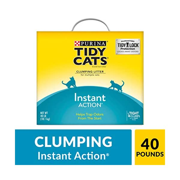 Purina Tidy Cats Instant Action Clumping Cat Litter - 40 lb. Box (00070230107121) 1